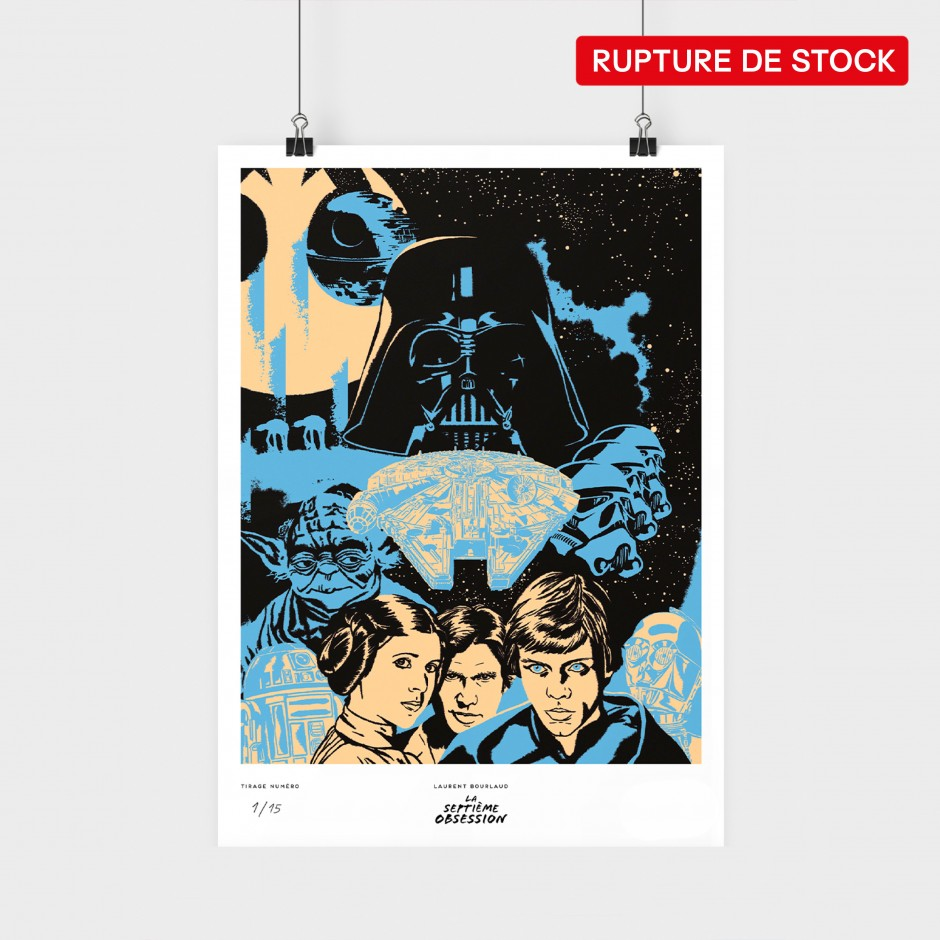 Affiche Star Wars (Bleu)