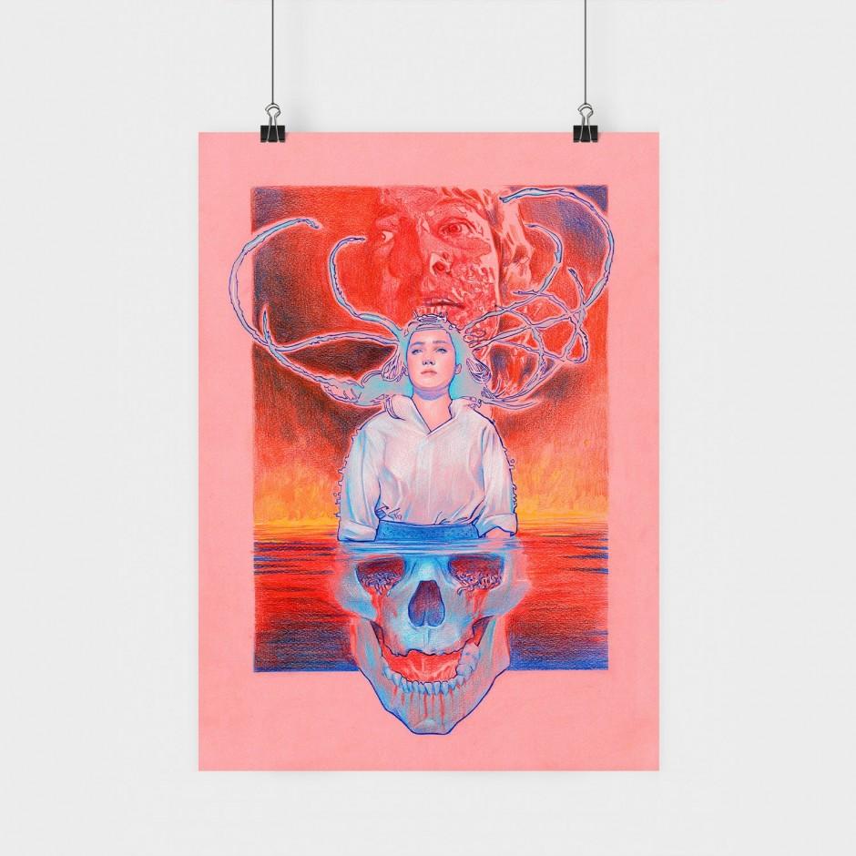 Dario Argento Poster (Pink)