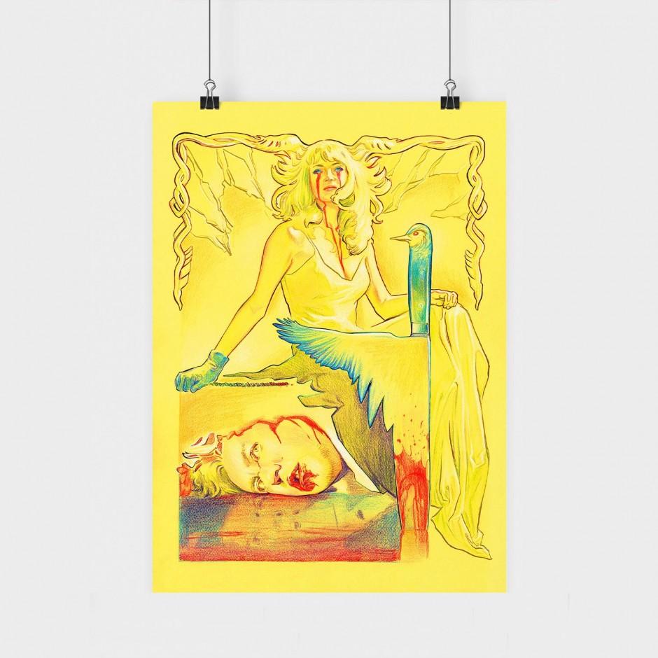 Affiche Dario Argento (Jaune)